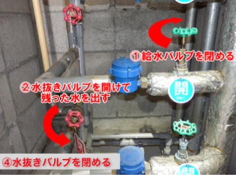S造RC造バルブ操作手順の写真